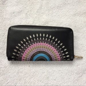 Handbags - Silver Cut-Out Rainbow Sunrise Wallet